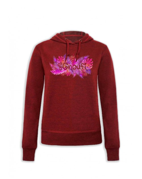 SWEAT CAPUCHE ROUGE FEMME GNOUFI BOREAL