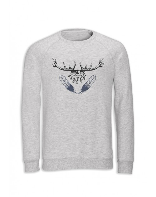 SWEAT BLANC CHINE HOMME BARBATOS