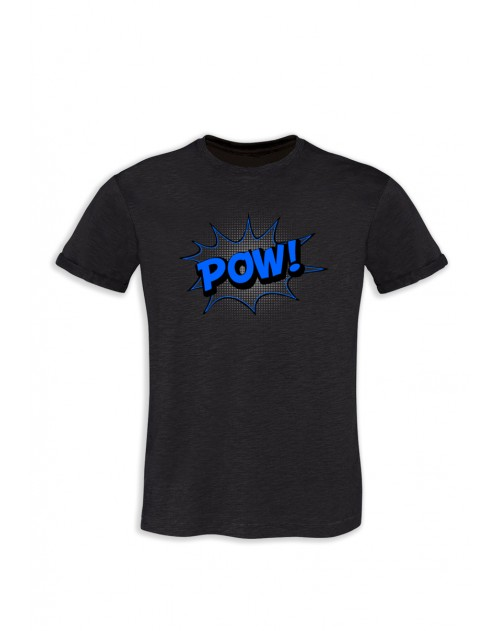 TSHIRT GRIS ANTHRACITE HOMME POW
