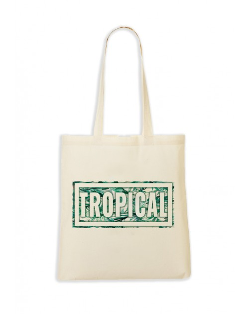 TOTEBAG NATUREL TROPICAL MENTHE