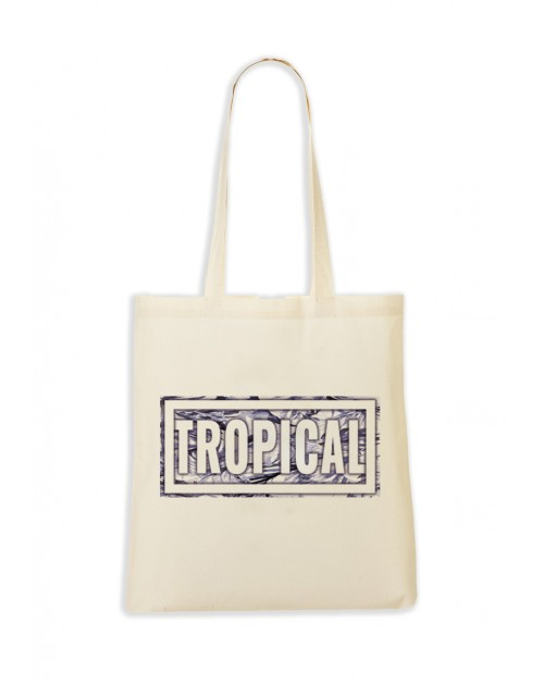 TOTEBAG NATUREL TROPICAL VIOLET
