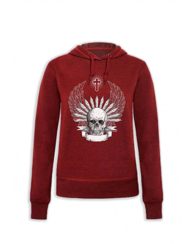 SWEAT CAPUCHE SKULL AILES