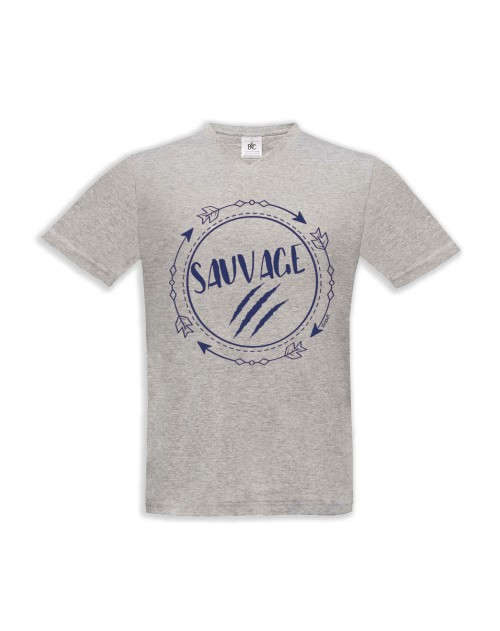 TSHIRT GRIS HOMME SAUVAGE