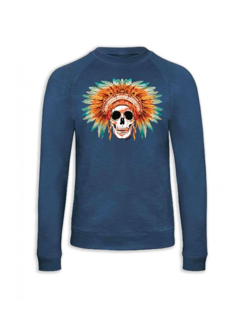 SWEAT BLEU SKULL COIFFE