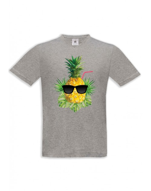 T-SHIRT HOMME ANANAS LN