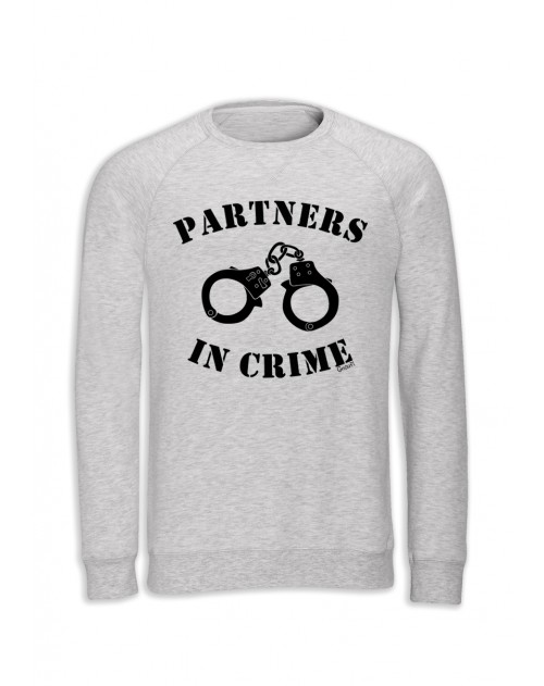 SWEAT BLANC CHINE HOMME PARTNERS IN CRIME