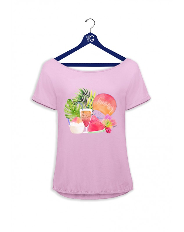 TSHIRT ROSE SUMMER