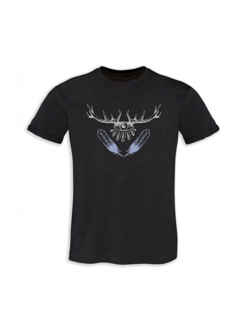 TSHIRT GRIS ANTHRACITE HOMME BARBATOS