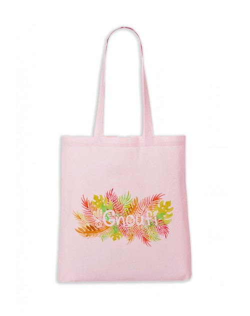 TOTEBAG ROSE PASTEL GNOUFI EXOTIQUE